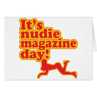 Nudie Magazine Day! Card