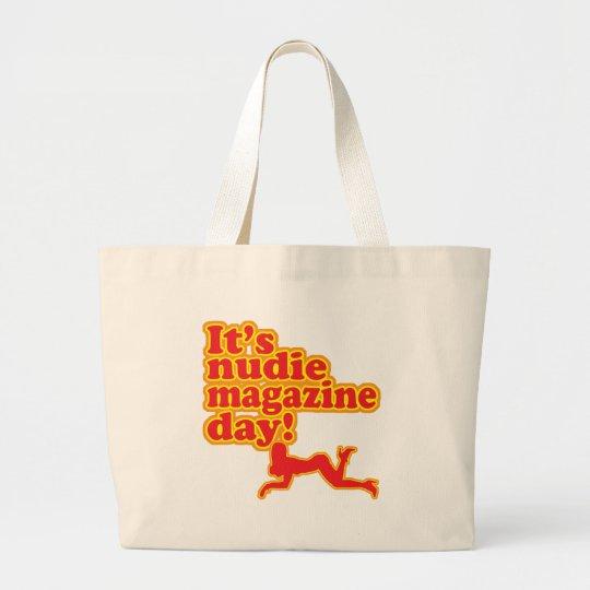 Nudie Magazine Day! Large Tote Bag