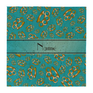 Nudillos de cobre amarillo conocidos personalizado posavasos