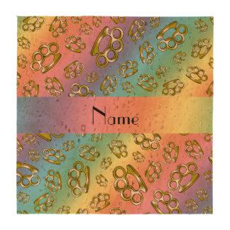 Nudillos de cobre amarillo personalizados del arco posavasos