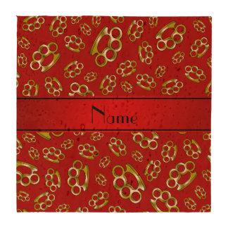 Nudillos de cobre amarillo rojos conocidos persona posavasos