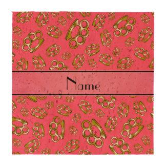 Nudillos de cobre amarillo rosados conocidos perso posavasos