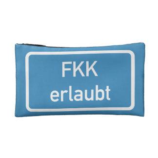 Nudism Allowed Sign, Germany Makeup Bag