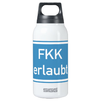 Nudism Allowed Sign, Germany Thermos Water Bottle
