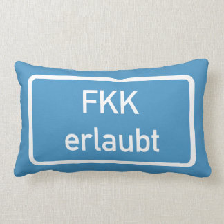 Nudism Allowed Sign, Germany Throw Pillow