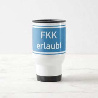 Nudism Allowed Sign, Germany Travel Mug