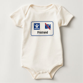 Nudist beach (1) Sign, Norway Baby Bodysuit