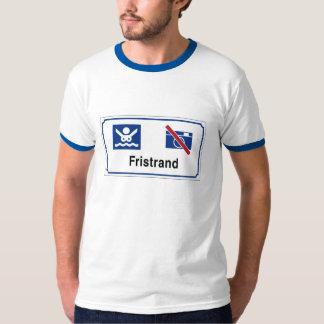 Nudist beach (1) Sign, Norway T-Shirt