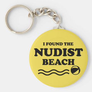 Nudist beach keychain