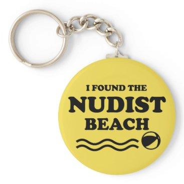 Beach Themed Nudist beach keychain