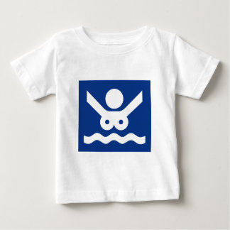 Nudist beach Sign (2), Norway Baby T-Shirt