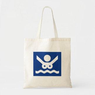 Nudist beach Sign (2), Norway Tote Bags