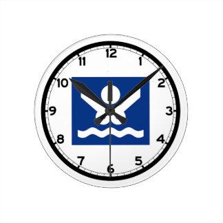 Nudist beach Sign (2), Norway Round Clock