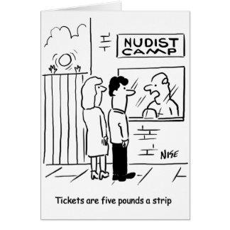 Nudist Camp entry fee - £5 a strip Card
