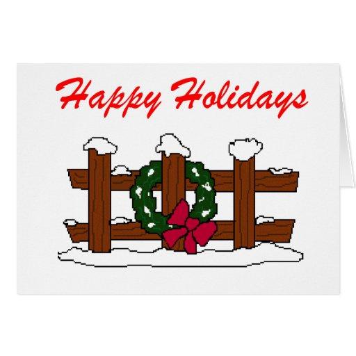 Nudist Christmas Greeting Card