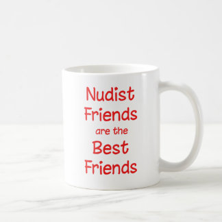 Nudist Friends Coffee Mug