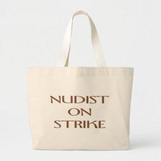 NUDIST ON STRIKE TOTE BAG