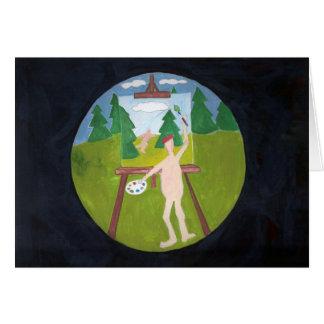 nudist painter note card
