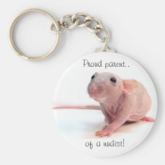 Nudist Rat Keychain
