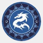 Nudo 1 del dragón pegatina redonda