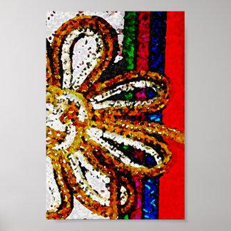 nudo 1 del kimono póster
