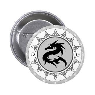 Nudo 4 del dragón pin redondo 5 cm