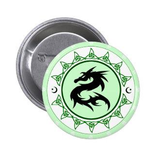 Nudo 5 del dragón pin redondo 5 cm