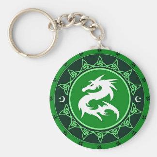 Nudo 8 del dragón llavero redondo tipo pin