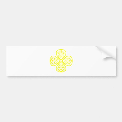 nudo amarillo del celtic del trébol pegatina para auto