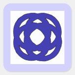 Nudo azul marino simple pegatina cuadrada