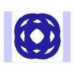 Nudo azul marino simple tarjeta postal