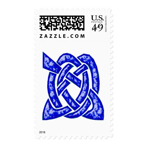 Nudo céltico 6 azul marino sello