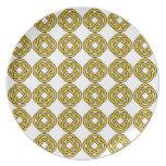 Nudo céltico - amarillo - placa platos de comidas