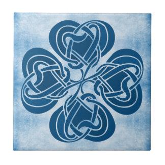 Nudo céltico azul enrrollado azulejo cerámica