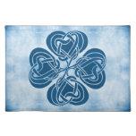 Nudo céltico azul enrrollado mantel