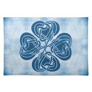 Nudo céltico azul enrrollado manteles
