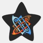 Nudo céltico de la Elemento-Tierra, aire, fuego, a Calcomanía Forma De Estrella Personalizadas