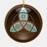 Nudo céltico de la trinidad adornos de navidad