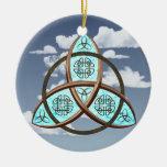 Nudo céltico de la trinidad ornamentos para reyes magos