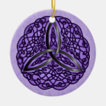 Nudo céltico de la trinidad del arte púrpura y adorno
