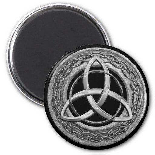 Nudo céltico de la trinidad del metal iman de frigorífico