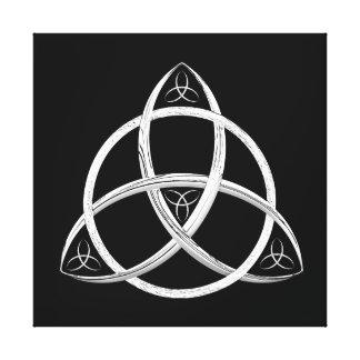 Nudo céltico de la trinidad impresión en lona