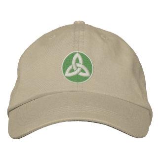 Nudo céltico de la trinidad para arriba gorra de beisbol