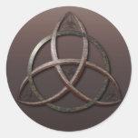 Nudo céltico de la trinidad pegatina redonda