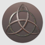Nudo céltico de la trinidad pegatinas redondas