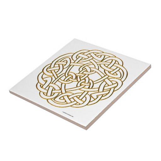 Nudo céltico de oro teja  ceramica