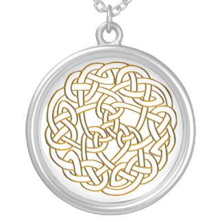 Nudo céltico de oro colgante redondo