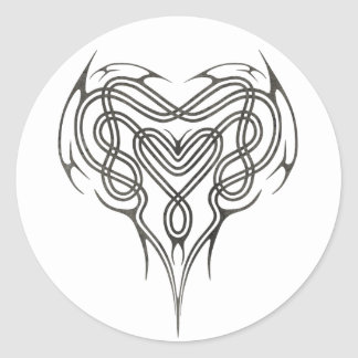 Nudo céltico de piedra del corazón etiquetas