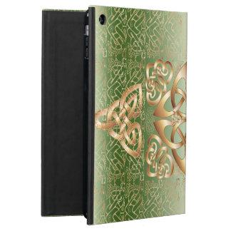 Nudo céltico elegante en verde