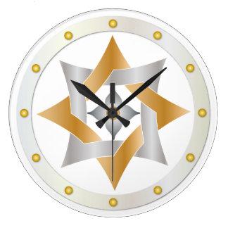 Nudo céltico en el círculo de puntos - reloj